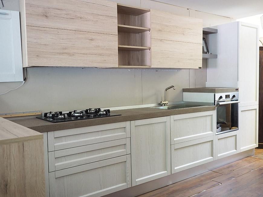 cucina moderna shabby con penisola in offerta convenienza ...