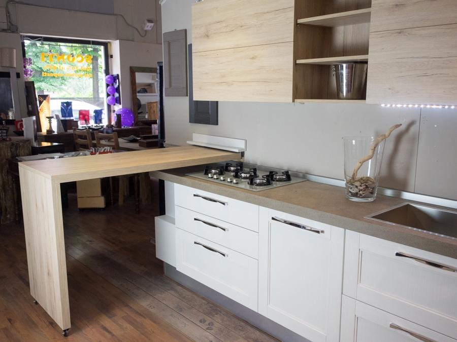 Cucina moderna shabby con penisola in offerta convenienza cucine a prezzi scontati - Cucina moderna con penisola ...
