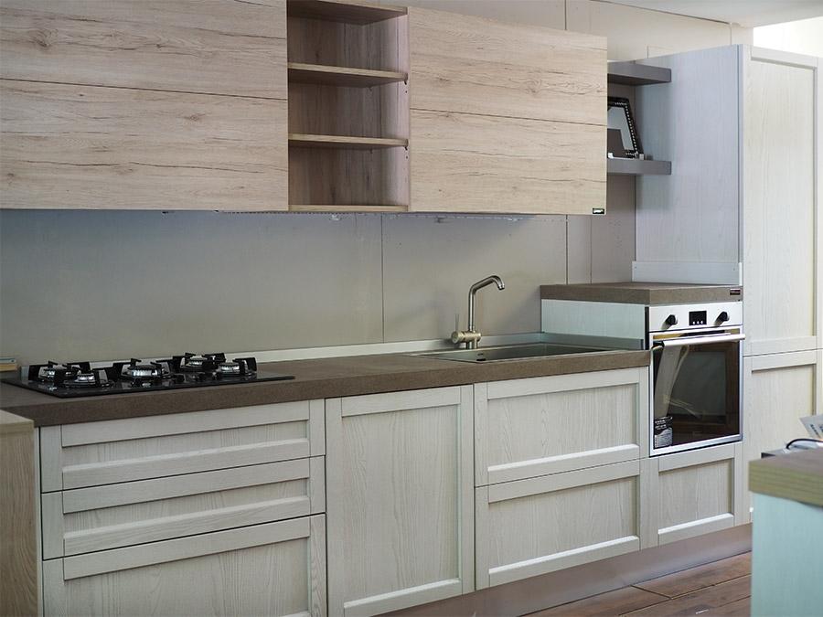 cucina moderna shabby con penisola in offerta convenienza - Cucine a prezzi scontati