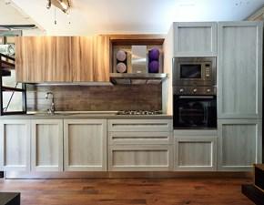 cucina moderna  shabby chic e rovere  in offerta completa di colonne outlet nuovimondi