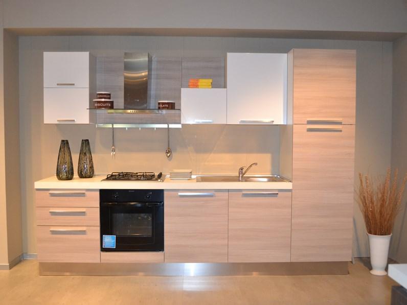 Cucina Moderna Tortora.Cucina Moderna Tortora Aran Cucine Lineare Mirabilia In Offerta Outlet