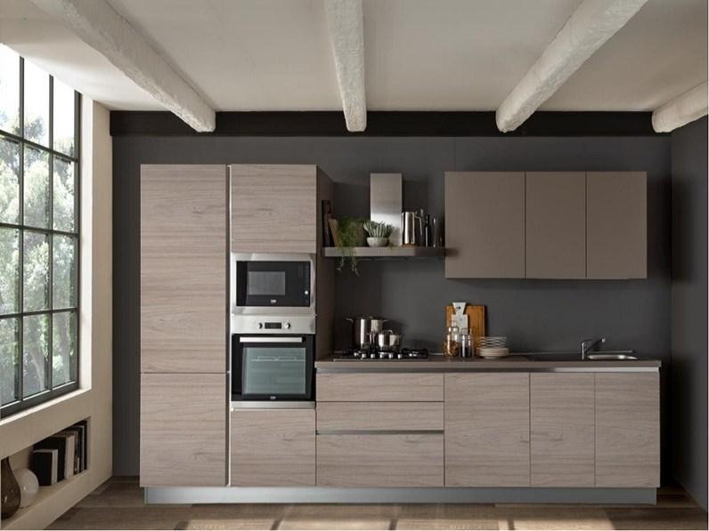 Cucina Moderna Cucina.Cucina Moderna Tortora Artigianale Lineare Cucina Delise Cm 363 Frassino Crema E Tortora Scontata