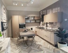 Cucina moderna tortora Creo kitchens ad angolo Kyra scontata