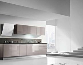 Cucina moderna tortora Dibiesse lineare Lab  lucido  in Offerta Outlet