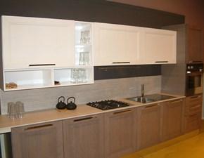 Cucina moderna tortora Nova cucina lineare Quadra in Offerta Outlet