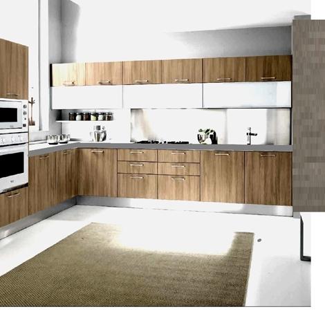 Cucina moderna vintage essenza rovere vecchio angolare con - Cucine vecchio stile ...