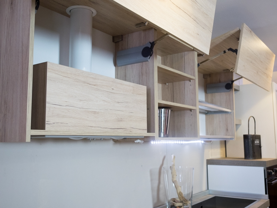 Cucina moderna vintage in legno con penisola mobile essenza rovere cucine a prezzi scontati - Cucina in legno moderna ...