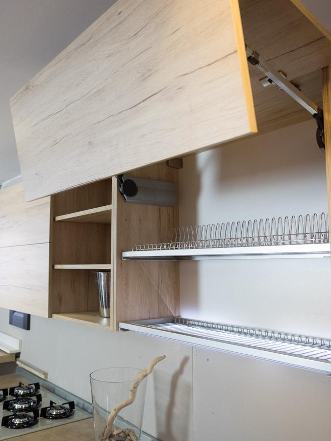Cucina Moderna In Essenza : Cucina moderna vintage lineare ante legno essenza rovere