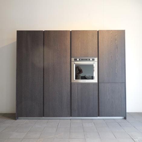 outlet Cucina Modulnova Cucina mh6 con isola, modulnova laccata e legno scontato del -30 %