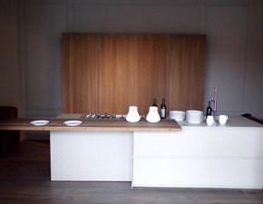 Cucina Modulnova design ad isola tortora in legno Twenty