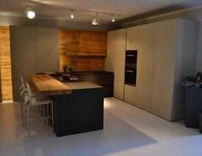 Cucina Modulnova design con penisola altri colori in laminato materico Mh6