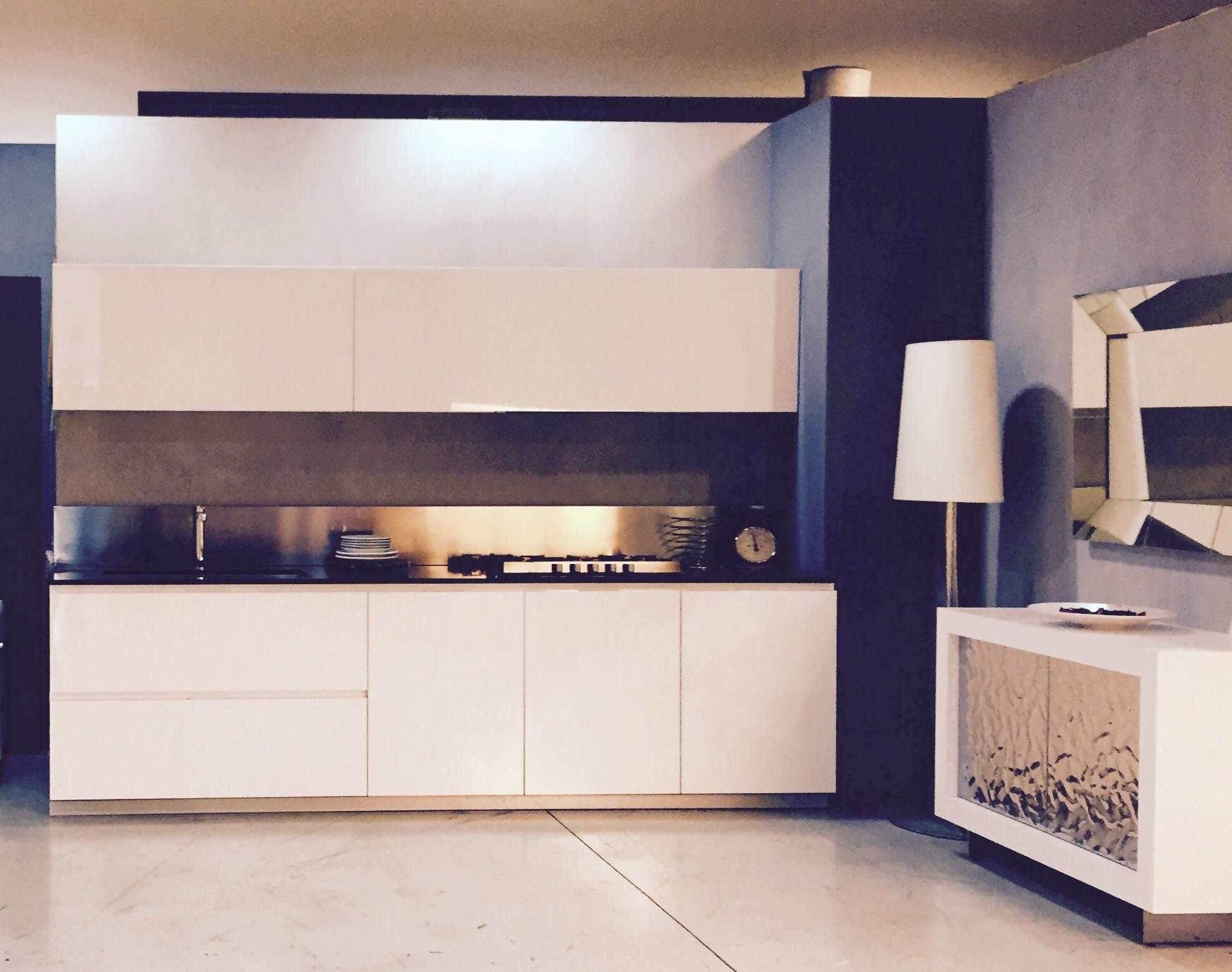 Cucina Modulnova Sp.29 Design Laccato Lucido Bianca - Cucine a ...