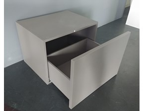Cucina Modulnova moderna lineare grigio in vetro Pensile