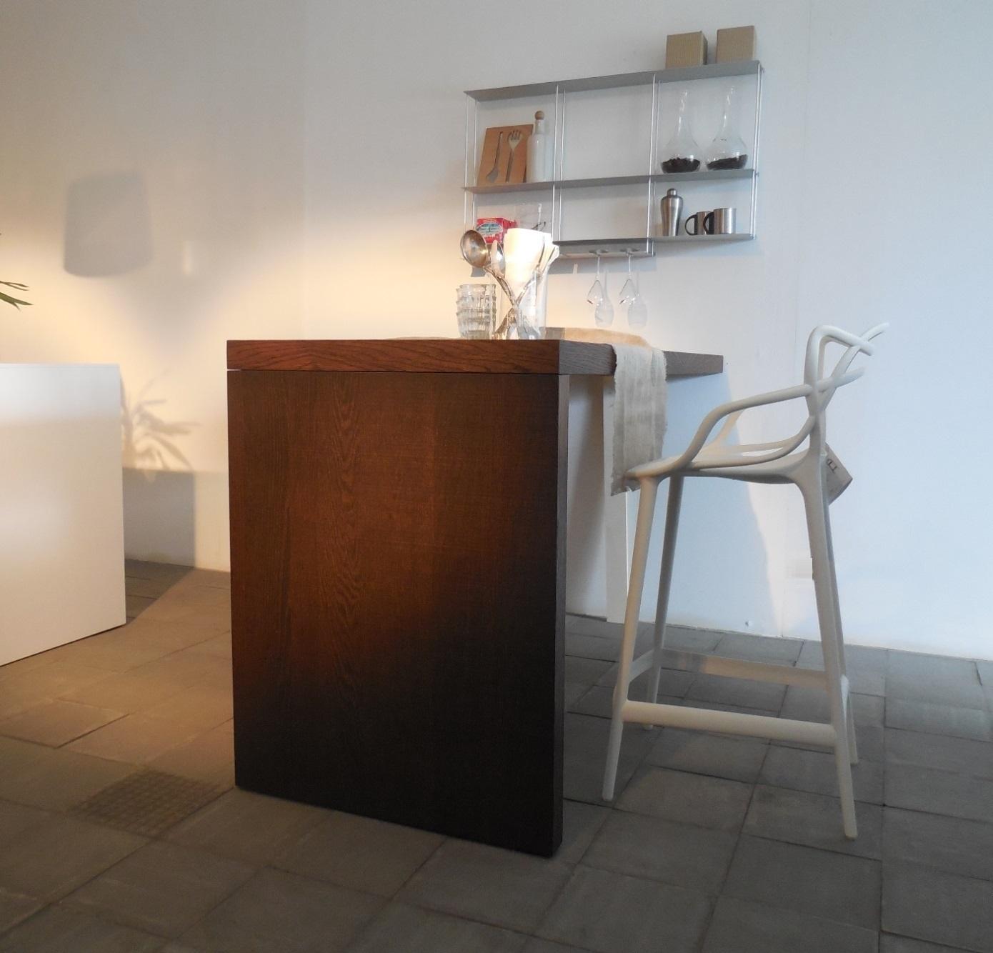 Cucina modulnova piano snack penisola tavolo rovere raw - Bancone per cucina ...
