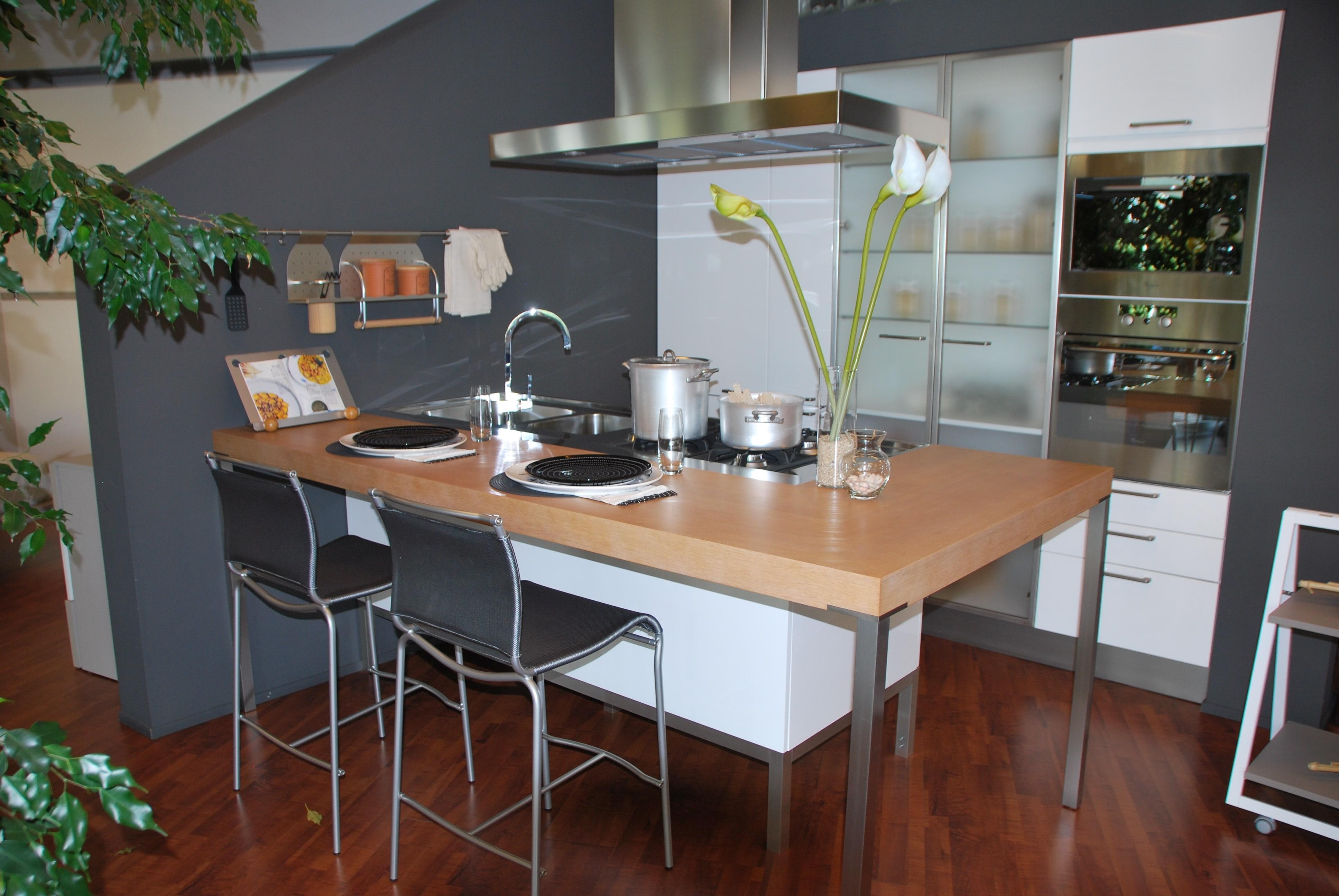Cucina modulnova scontata del 60 con penisola cucine a for Costo cucina con isola