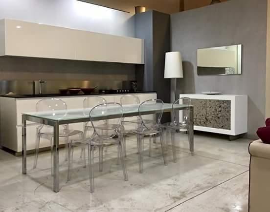 Modulnova cucina design laccato lucido bianca cucine a prezzi scontati - Prezzi cucine modulnova ...