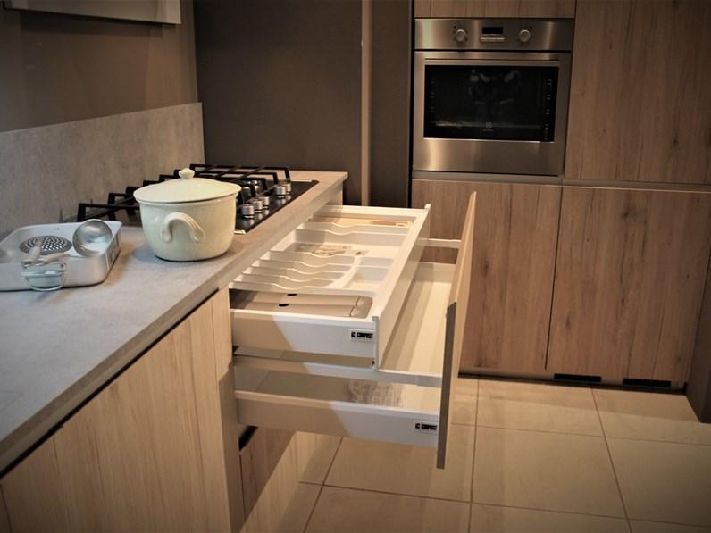 Cucina Mood Moderna Rovere Chiaro Lineare Composit