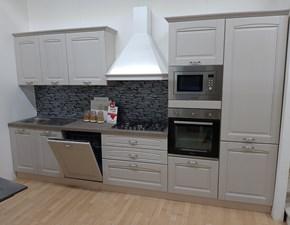 Cucina Net cucine classica lineare grigio in legno Bea