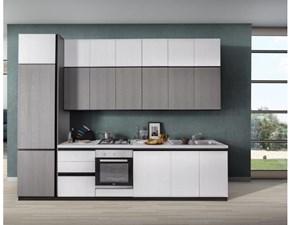 Cucina Net cucine moderna lineare altri colori in laminato materico Zoe
