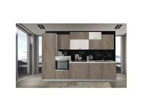 Cucina Net cucine moderna lineare noce in melaminico New smart 330