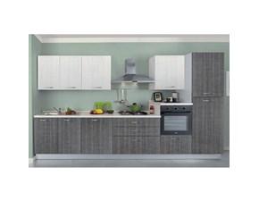 Cucina New smart 360 moderna grigio lineare Net cucine