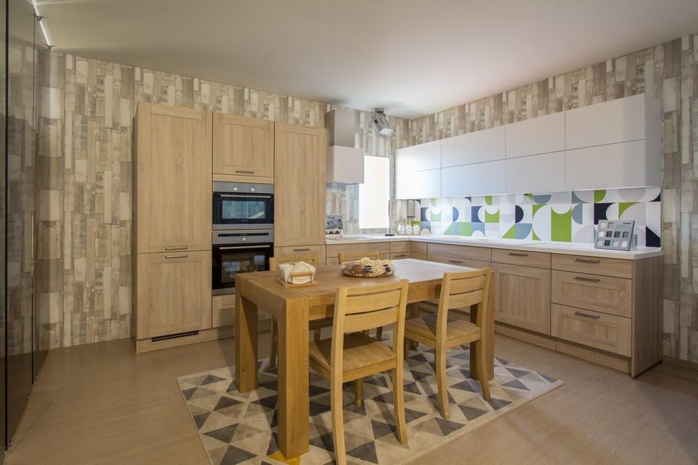 Cucina nobilia cottage rovere virginia scontata del 57 for Pavimento della cucina del cottage