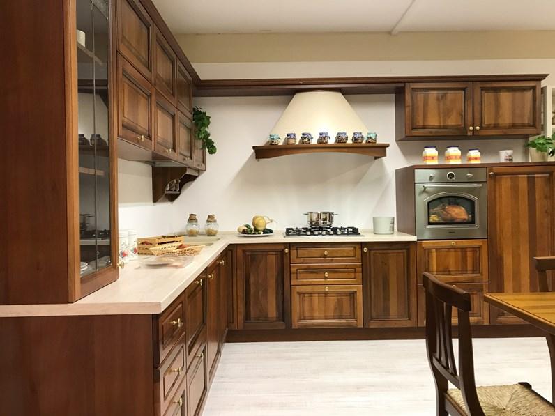 noce classica ad angolo Aurora di Gm cucine in offerta