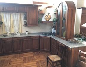 Cucina noce classica ad angolo Rita  Artigianale in offerta