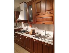 Cucina noce classica lineare Nora legno Arrex