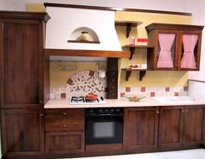 Cucina noce classica lineare Tradizionale Artigianale