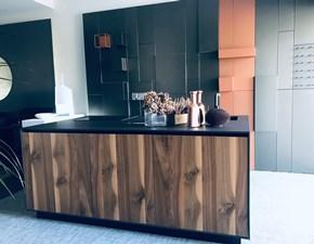 Cucina noce design ad isola Aspen Doimo cucine in Offerta Outlet