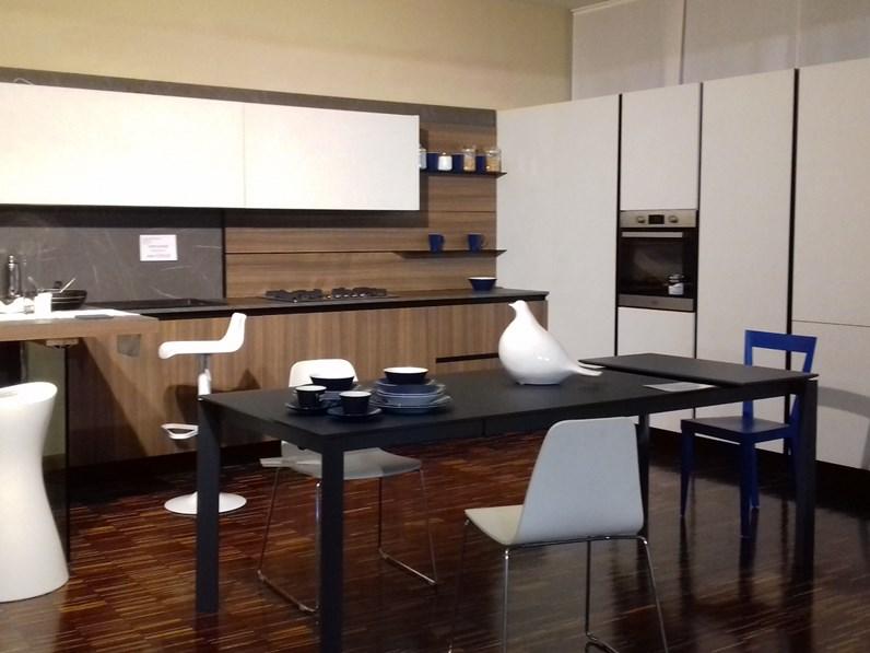 Cucina Noce Moderna Ad Angolo Kali Arredo3 Scontata