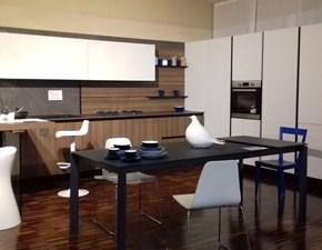 Cucina noce moderna ad angolo Kali' Arredo3 scontata