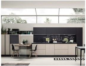 Cucina noce moderna lineare Cucina componibile a prezzo scontato Colombini casa in Offerta Outlet