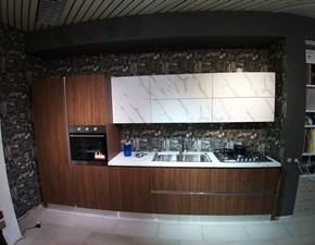 Cucina noce moderna lineare Ginevra Aran in offerta