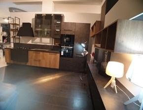 Cucina noce moderna lineare Matheria Ala cucine in Offerta Outlet