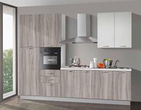 Cucina noce moderna lineare New smart 300 Net cucine in Offerta Outlet