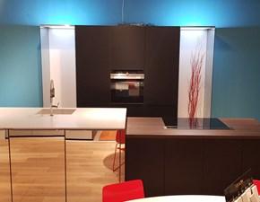 Cucina Nolte design ad isola altri colori in laccato opaco Nolte specchi