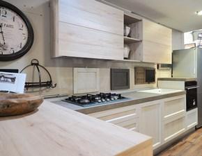 CUCINA Nuovi mondi cucine con penisola Modello vintage shabby legno  SCONTATA