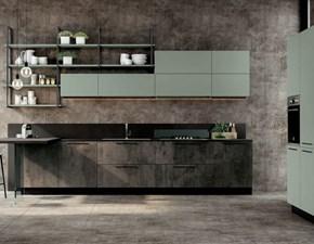 Cucina Nuovi mondi cucine Cucina industrial quadra con colonne OFFERTA OUTLET