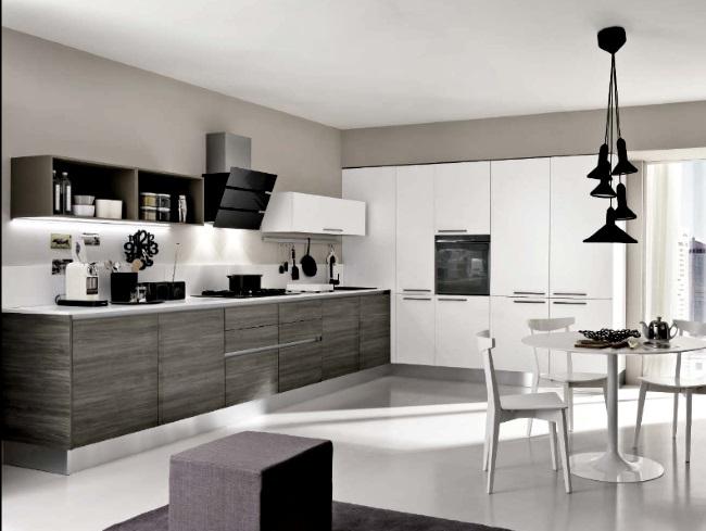 Cucina in offerta minimal etnic con armadione dispensa moderna laminato opaco neutra cucine a - Cucine con dispensa ...