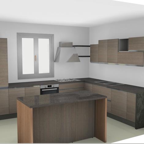 Cucina nuovi mondi cucine cucina moderna da angolo con con - Cucina moderna isola ...
