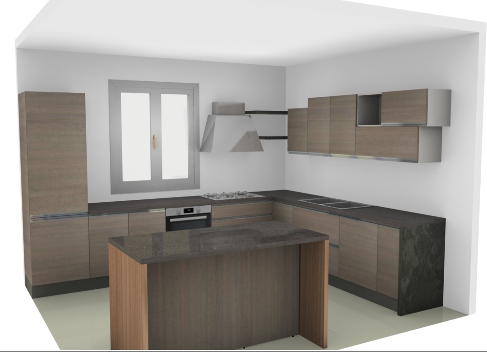 Cucina nuovi mondi cucine cucina moderna da angolo con con - Cucina moderna con isola ...