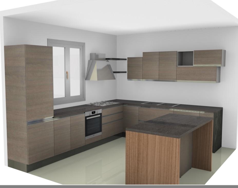 Cucina nuovi mondi cucine cucina moderna da angolo con con for Cucine moderne offerta
