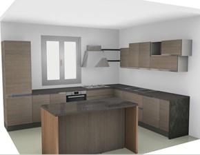 Cucina moderna da angolo con con isola in offerta nuovimondi convenienza  Moderne