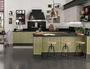 cucina industrial legno compreso di isola penisola e set elettrodomestici hotpoint e cappa lavagna in offerta