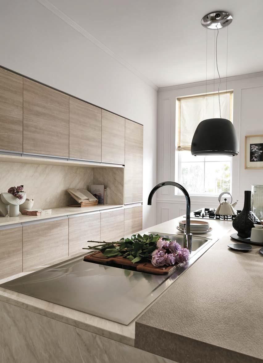 Cucina nuovi mondi cucine cucina moderna rovere terra - Cucina moderna isola ...