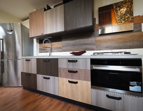 Cucina Nuovi mondi cucine Cucina multicolor vintage con piano cemento    OFFERTA OUTLET