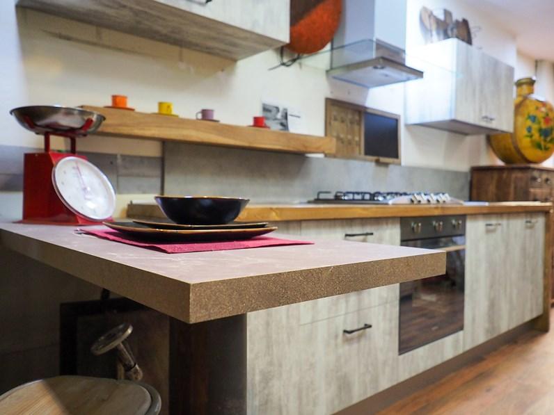 Cucina Nuovi Mondi Cucine Cucina Nuovi Mondi Cucine Cucina Modello White Con Top Legno In Offerta