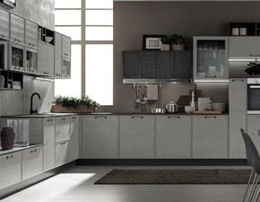cucina quadra telaio legno moderna con angolare con living in offerta outlet nuovimondi
